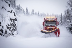 Arocs clearing Swedish roads