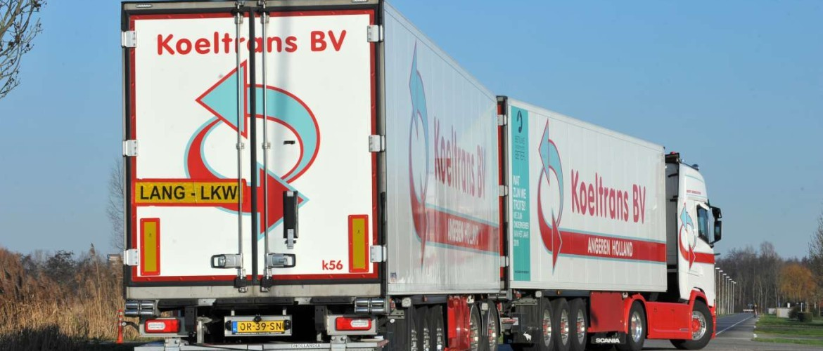 Dutch test with Super EcoCombi with double trailers