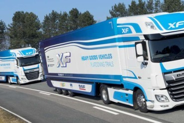 DAF participates in UK platooning trial