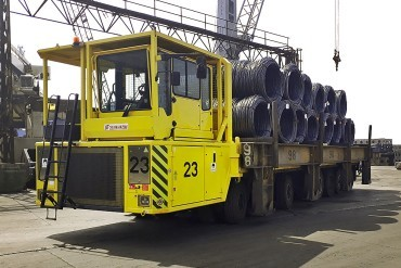 Scheuerle 155 ton trucks for Turkish ICDAS
