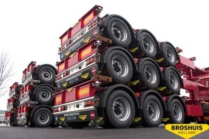 Nine Broshuis trailers for Benzinger Spedition